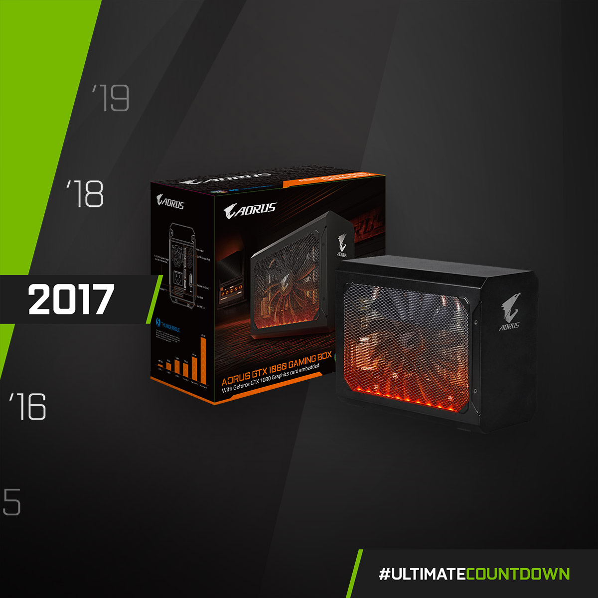 Tiny but mighty! AORUS launched the GAMING BOX - a full feature ready-to-go eGPU, equipped with NVIDIA GeForce GTX 1080 and 1070 graphics!  #UltimateCountdown #UltimateAORUS #GIGABYTE https://t.co/QMZWY6TC8Z