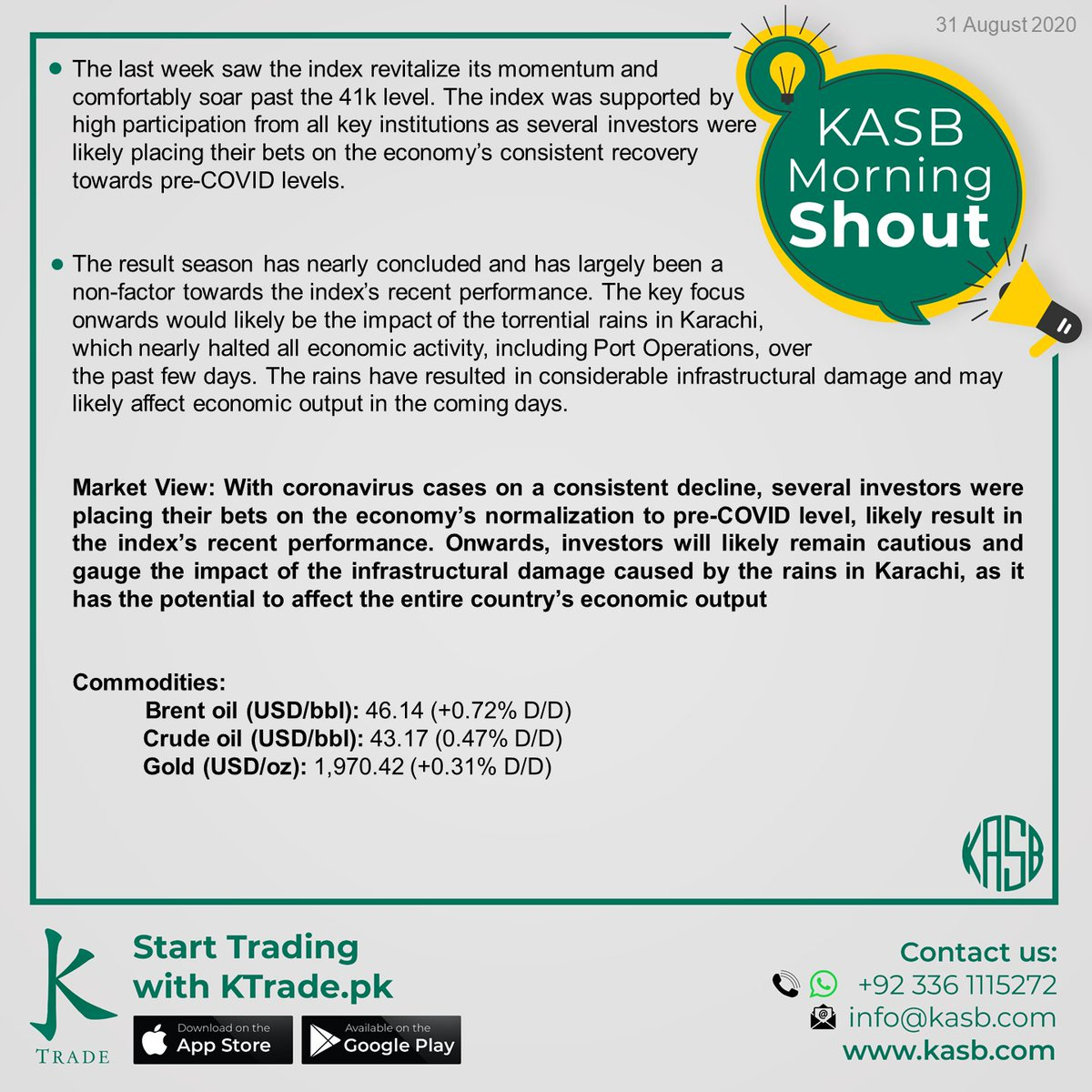 KASB Morning Shout: Our views on today's news #kasb #smartinvesting #psx #stockmarket #KTrade #onlinetrading #pakistaneconomy #imrankhan #sbp #inflation #kse100 #brokeragehouse #psxstocks #marketupdate #emergingmarkets #frontiermarkets #news #morning #today #views https://t.co/PD3evAtfwB