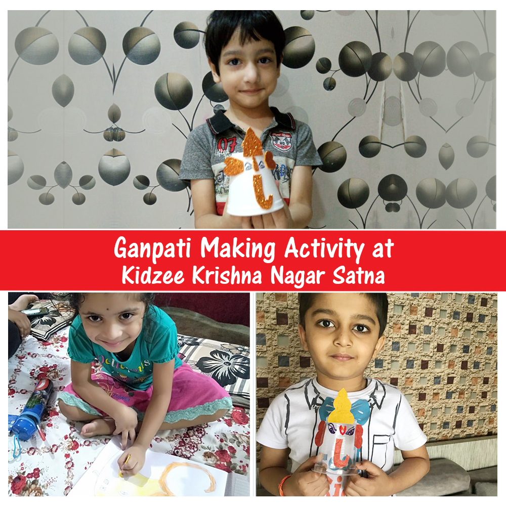 Ganpati-making activity was conducted amongst Kidzee Krishna Nagar Satna students to celebrate Ganesh Chaturthi with a lot of creativity and enthusiasm!  It was a fun learning experience for all!  #Kidzee #KidzeeStudents #GaneshChaturthi #Creativity #Learning #FunLearning https://t.co/pCoSZGN1ZT
