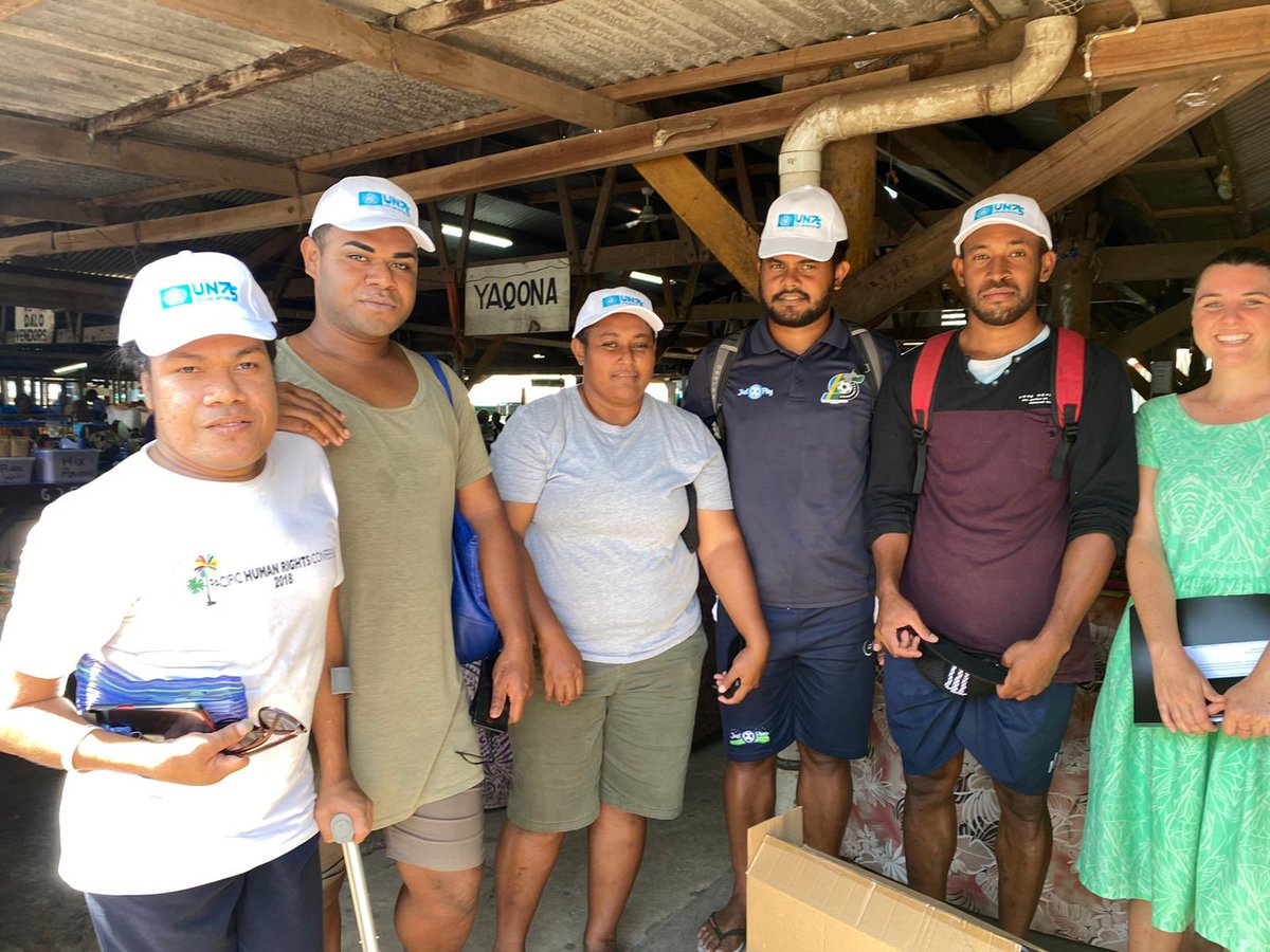 #PacificUnite! House of Colours is a volunteer-based LGBTQI+ advocacy organisation in Northern #Fiji. Today they supported @UN_Pasifika in ensuring the #UN75 Survey reached Labasa Market vendors.Their voices will now be heard at the @UN General Assembly next month.#CivilSociety🙏 https://t.co/RCJwUb7zFc
