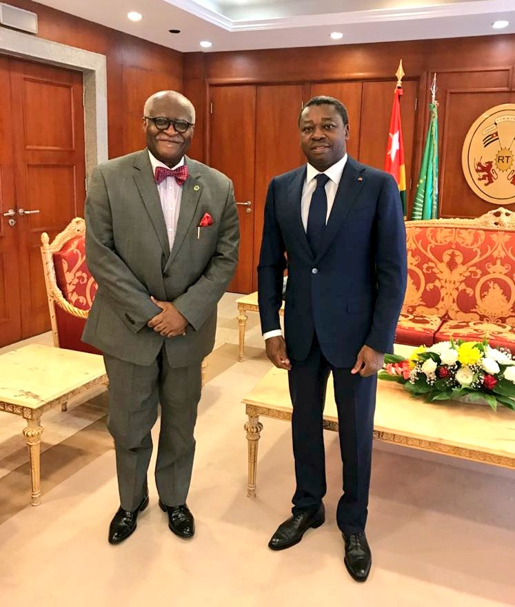 Warm audience with H.E. @FEGnassingbe of Togo. Very impressed by his insistence on fighting #corruption and promoting #GoodGovernance. He also stated his determination to ensure that the fight against #COVID19 is not weakened by corruption. #Africa #AntiCorruption https://t.co/LOuGwGpOZS