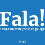 Image for the Tweet beginning: Deseña a túa web de