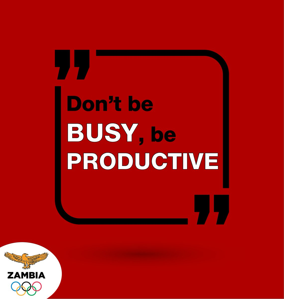 #MondayMotivaton  For this week, we encourage you not to be busy but productive in whatever you are doing. https://t.co/rh7iWBfqfx