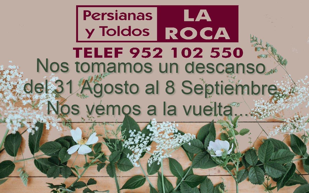 #vacaciones2020 #persianaslaroca #persianas #toldos #mamparasbaño #mosquiteras #Malaga #CostaDelSol #cortinasinterior https://t.co/BIwd5DUBzB