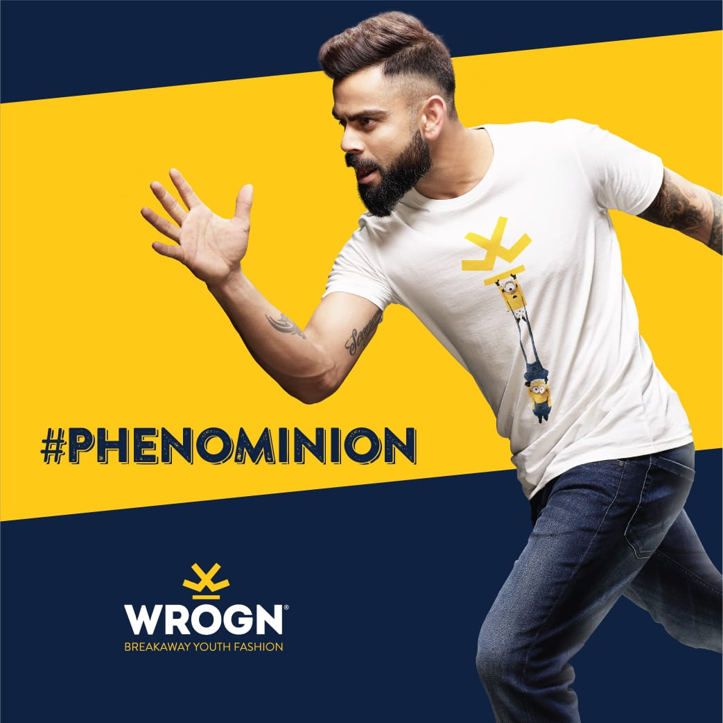 Running fashionably late, quite literally. ⚡  @imVkohli is on his way to grab more #Phenonminion tees from @StayWrogn's new collection. Join him folks! @BWObrands   #UniversalPictures #ViratKohli #StayWrogn #Minions