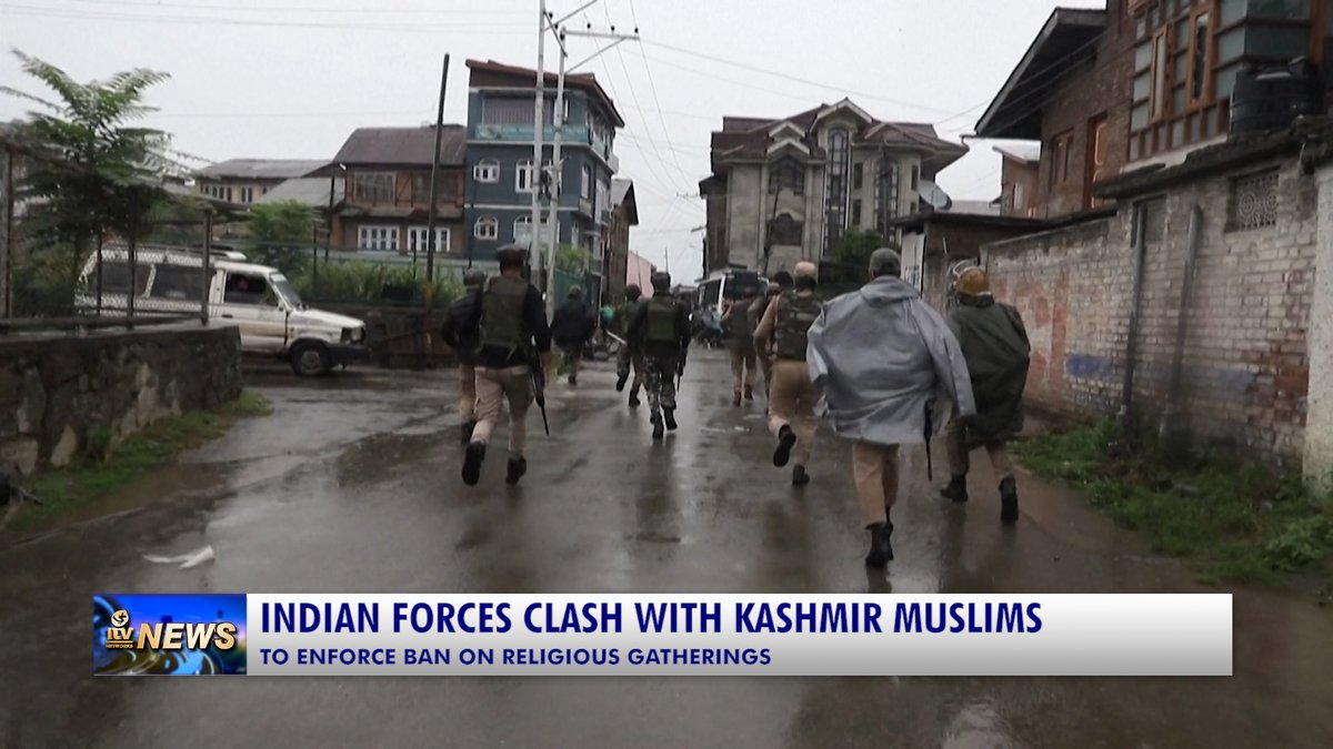 INDIAN FORCES CLASH WITH KASHMIR MUSLIMS  Indian forces opened fire with shotgun pellets and tear gas on a procession by hundreds of Muslims in troubled Kashmir on Saturday. #IndianForces #Clash #Kashmir #Muslims #Fire #Pellets #TearGas #Ban #ReligiousGatherings #Injured #Wounds