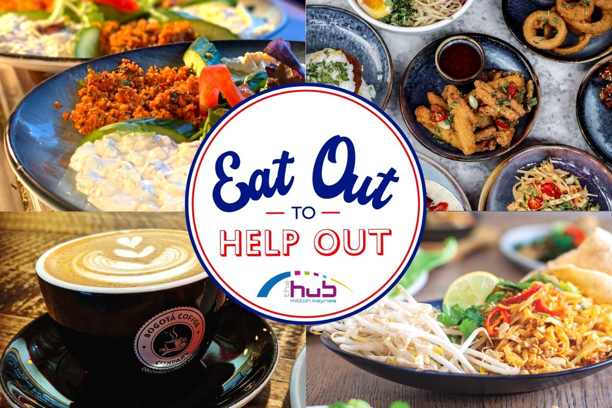 Today is the last day of #EatOutToHelpOut, so make sure you head to The Hub today to get 50% off any of your favourite food, soft drinks and coffee. 😍 . . . #thehubmk #thehub #MiltonKeynes https://t.co/rkvUGOT25Q