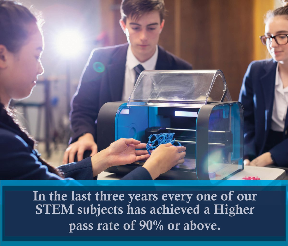 Our pupils excel in STEM subjects - come along and see for yourself  why Hutchie is the right choice for your child. #Belong #Flourish #Achieve https://t.co/RaeJ1788rx