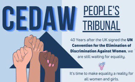 @JudeKelly_  Please take a look at #CEDAWPeoplesTribunal whose vision is to investigate why #CEDAW is not in domestic law after 40 yrs. support us to elevate women&girls to achieve their true potential #cityofwomenlondon Donate&share ⬇️⬇️