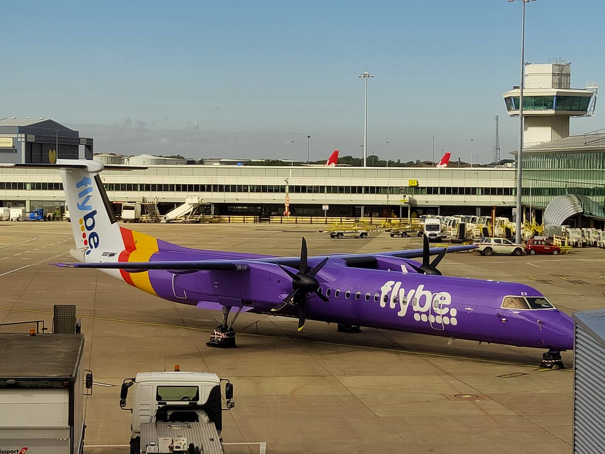 Sad and lonely ex #flybe  impounded @manairport  Even with fewer pax security was slow and pick up / drop off charges high. Consistently bad 😨 #paxex #airport #travel https://t.co/Lgbz9wjtqf