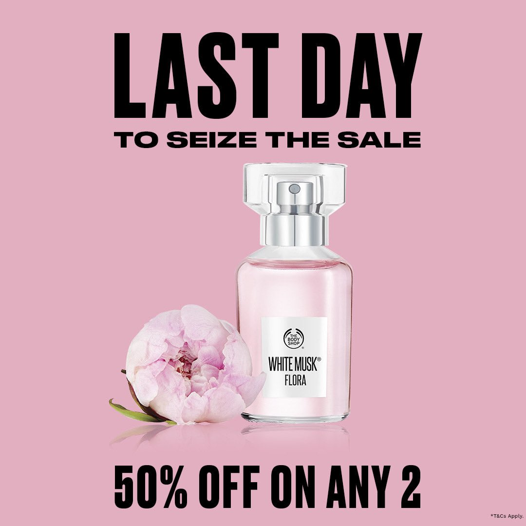 It's the last few hours of the seriously sweet! Your favourites are on sale! Get up to 50%* off on purchase of any 2 products. Visit us, shop online or call us at +917042004412 for home delivery. What are you getting? #TheBodyShopIndia #TBSInd #LastFewHours #EOSS #Sale #Discounts
