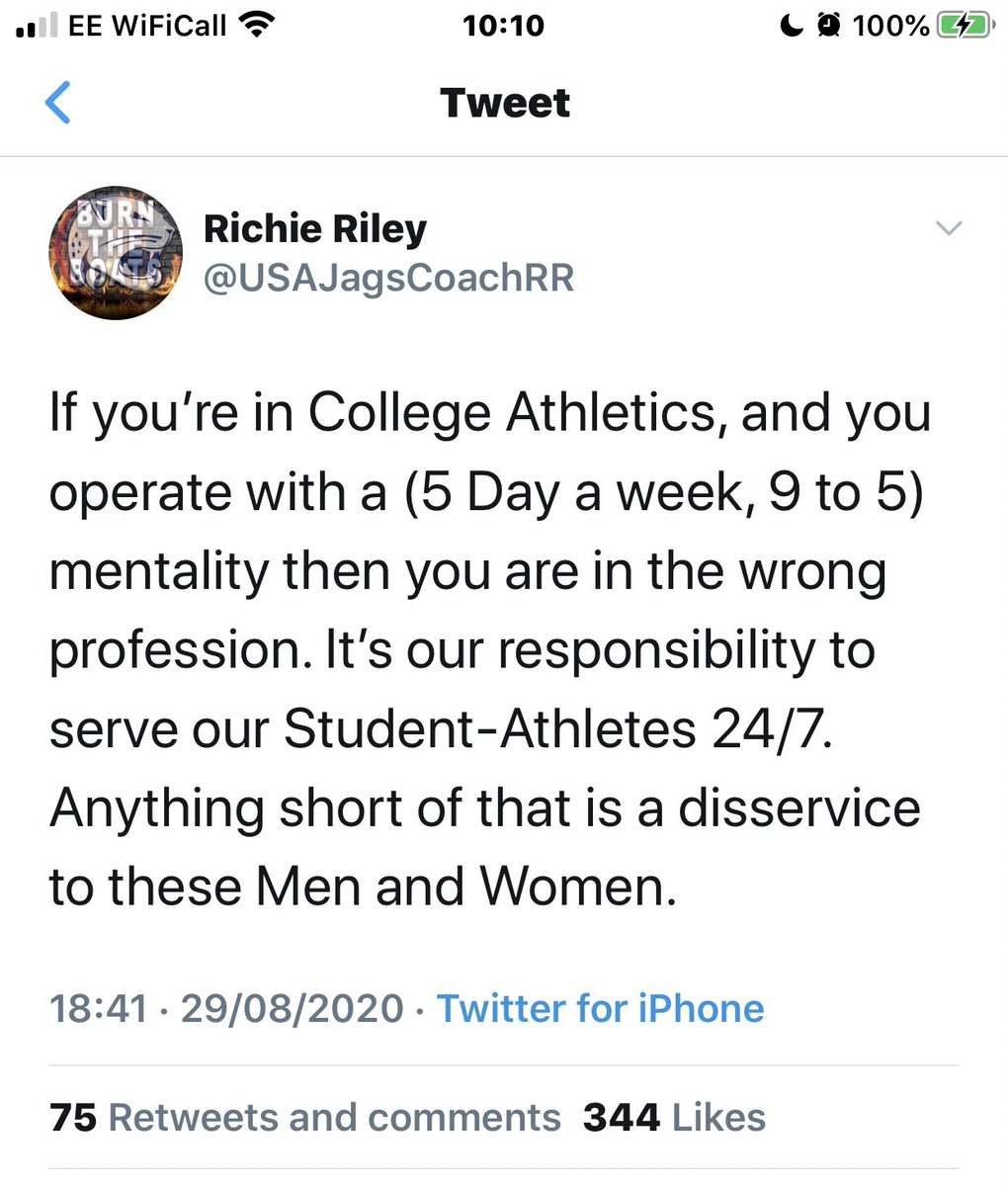 It's this type of tweet that glorifies the fantasy of the grind and leads to coaches being burnt out at the age of 30.  👇🏼Absolute nonsense 😡 https://t.co/dnGT3pxLA7