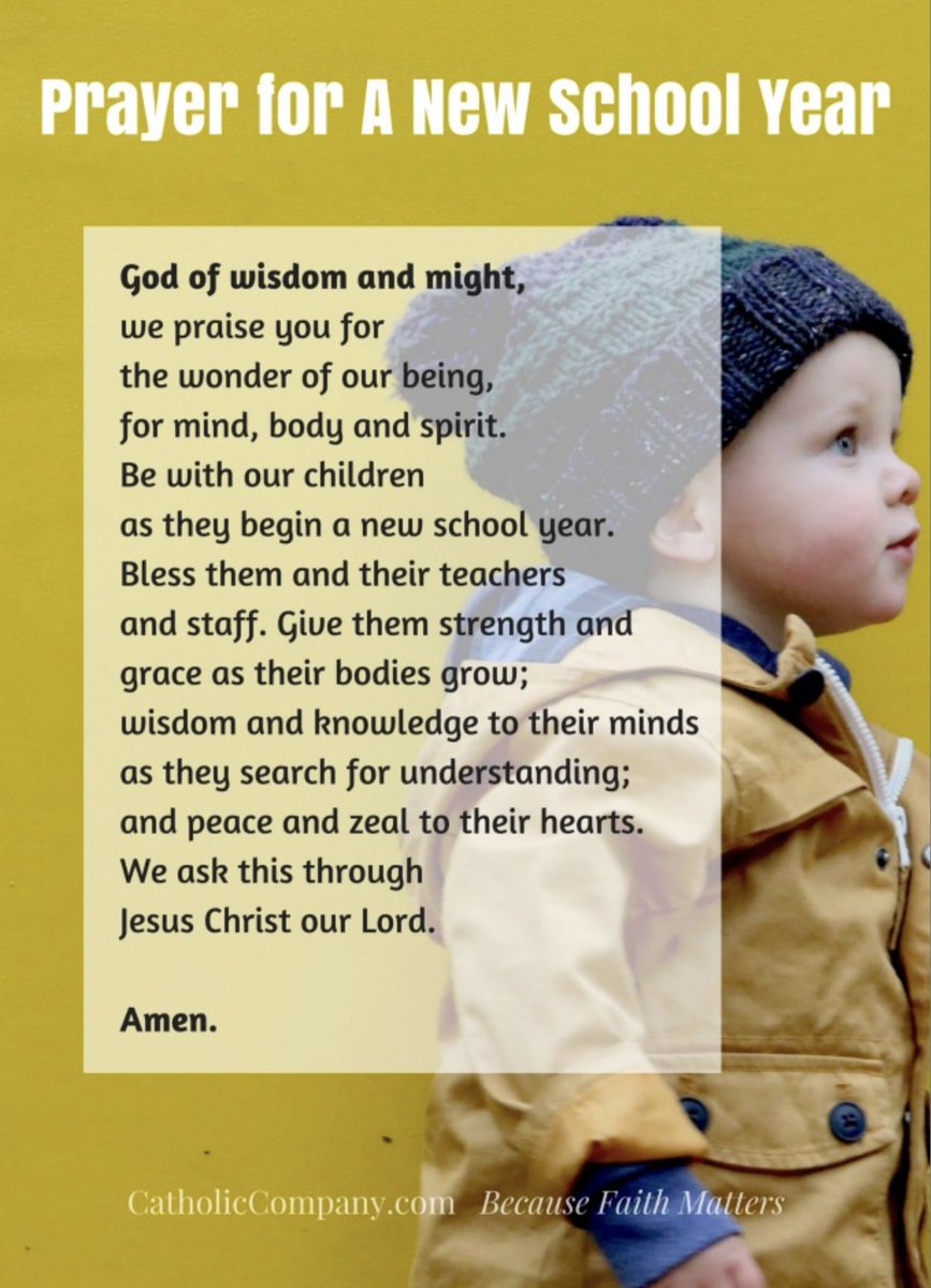 On the eve of our return to school, let us pray for the children, teachers and staff in our schools. 🙏🏻🙏🏻🙏🏻 @ArchbishopEamon @InfoCcms @StPatsCollege @AcademyDgn @SJS41 @stciaransballyg https://t.co/2BW5B4ve4J