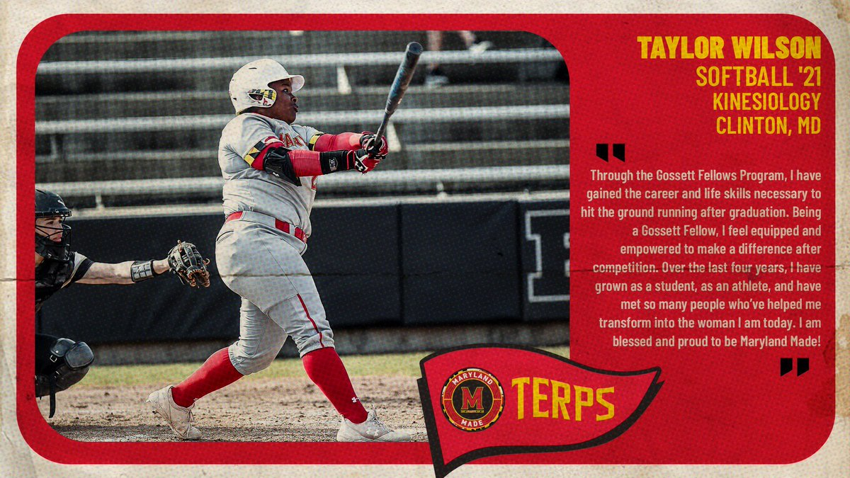She is Maryland Made.  @Taylor_Wilson28 shows leadership abilities on and off the field as a current member of the Big Ten Anti-Hate & Anti-Racism Coalition, the Gossett Fellows Program and SAAC. #MDMadeMonday    More: https://t.co/i8IHIU591M https://t.co/7gFkrEuxZr