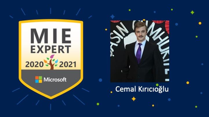 #MIEExpert for 2020-2021!  I´m glad to be a part of the team and so happy to get this opportunity. This success is very important for me.  Takımın bir parçası olduğum için ve bu fırsatı yakaladığım için çok mutluyum!  Thank you  @MicrosoftEDU & @EyyuphanKeskin https://t.co/BfHTpvSDbg