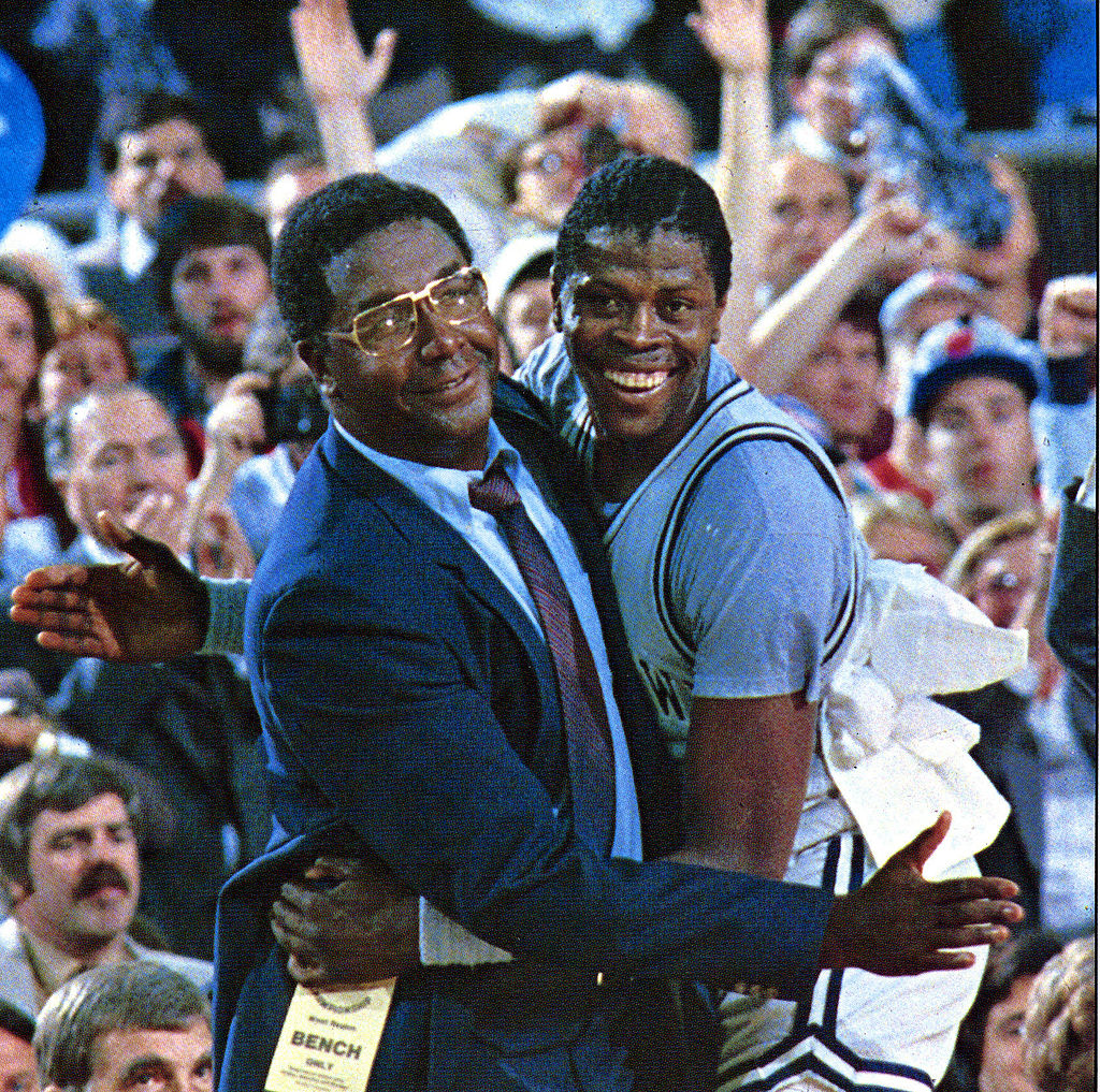 - 1st African-American head coach to win a major collegiate championship in 1984 - 3 NCAA Final Fours - 3x National Coach of the Year - 7 Big East Tournament Championships - Coached Hall of Famers Patrick Ewing, Alonzo Mourning, Dikembe Mutombo & Allen Iverson.  RIP John Thompson https://t.co/XBqICBr99D