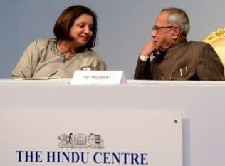 Former President @CitiznMukherjee was one of India's most respected leaders, his dignity & grace stood out in the political firmament. We were privileged to have him inaugurate @TheHinduCentre in 2012 at Rashtrapati Bhavan.  India will miss your wise counsel, Sir! https://t.co/3UdfLLIDUz