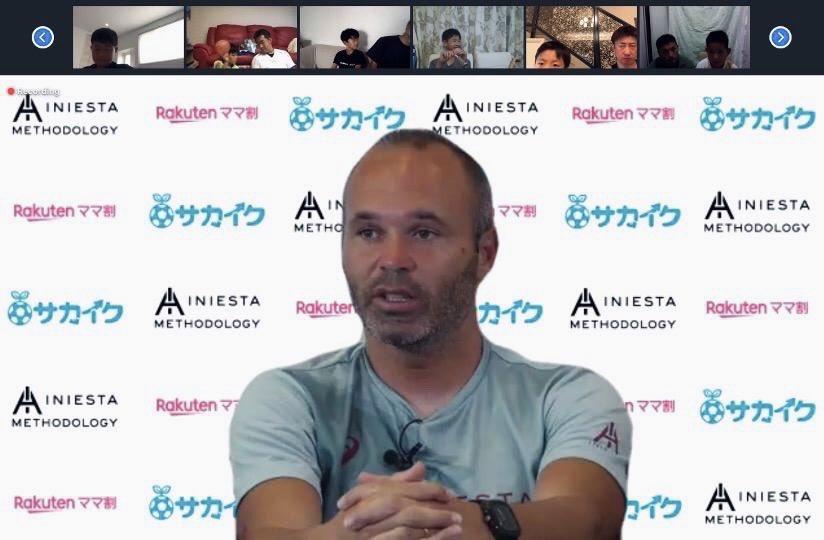 Éxito en el primer webinar de @andresiniesta8 con los niños y niñas de #iniestamethodology! ⚽️🇯🇵  #iniestamethodology の子どもたちと一緒に@andresiniesta8 の初 ウェビナーは大成功!⚽️🇯🇵  #Japan #Football #FootballAcademy #Discipline #Learning #TeamWork #Kobe