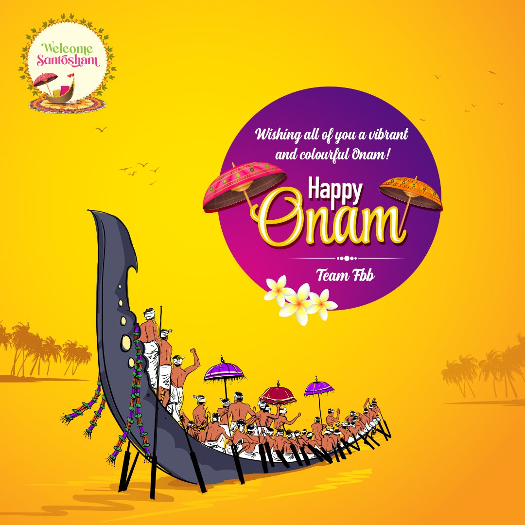 May this Onam bring you all the joy and happiness. Wishing you all a happy and bountiful Onam! #HappyOnam https://t.co/4T8awTBg2f