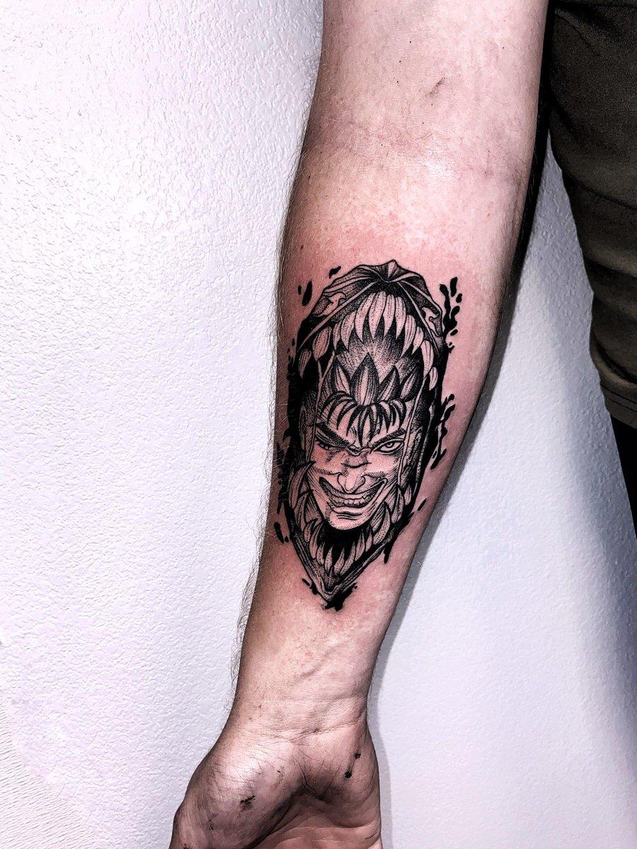 Ppdangles On Twitter Got My First Tattoo And What Better Than It Being A Berserk Tattoo Rageofberserk Berserk Tattoo