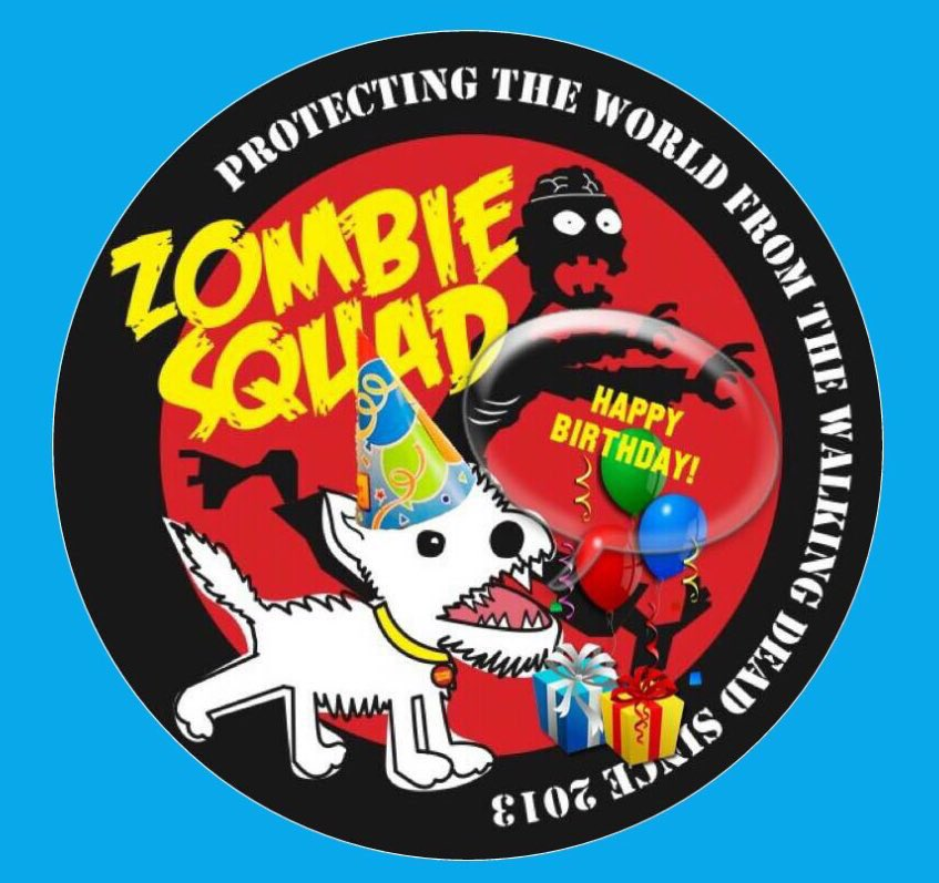 🎂Wishing a very 🎈HAPPY BIRTHDAY🎉 to VITCZA & GANG's MUM from Leada Billy & your ZombieSquad pals.🎁 We hope you have a pawsome time celebrating your special day, pal.  RaaAAA!! 💜🎂🎈🎁🍾🍸🍷🎉 @VitCza @ZombieSquadHQ #ZSHQ https://t.co/q8N7hehcBn