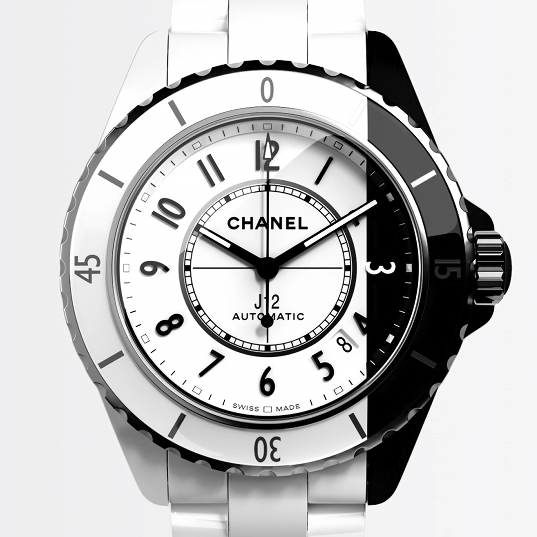 J12 PARADOXE A liberated, transgressive creation. A bold encounter of black and white. A structured composition that features the Caliber 12.1, a self-winding movement manufactured exclusively for CHANEL. Discover the watch on https://t.co/U4YJTEZ3cE #J12Paradoxe #CHANELWatches https://t.co/u0nv2DEboB