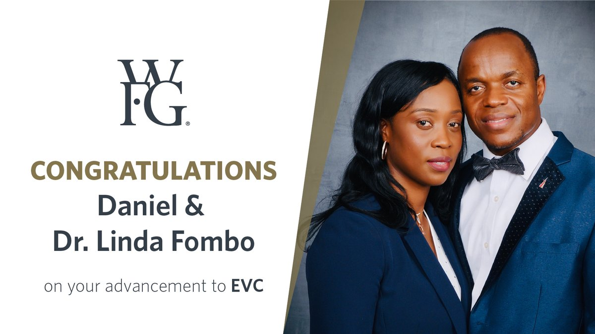 Last month Daniel & Dr. Linda Fombo earned their $1 million ring, and now they have earned their advancement to Executive Vice Chairman! Thank you for your dedication to helping families. Please join us in congratulating them on this impressive accomplishment! #WFGLeaders https://t.co/1cx999n3eP