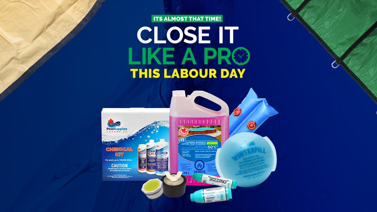 Close Like a Pro This Labour Day Weekend - We Have ALL Your Pool Closing Needs! 🍁 #LabourDay #PoolSuppliesCanada #PoolClosing #WinterSupplies https://t.co/Q1lUVvsgLw https://t.co/IhwnRoideV