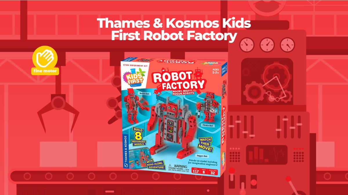 Build a series of wacky, motorized robots with this introductory mechanical engineering kit for kids ages five and up. #JrToyCompany   🤖⁣https://t.co/2Dcj4HqJ7f https://t.co/1WQP0NdBo1
