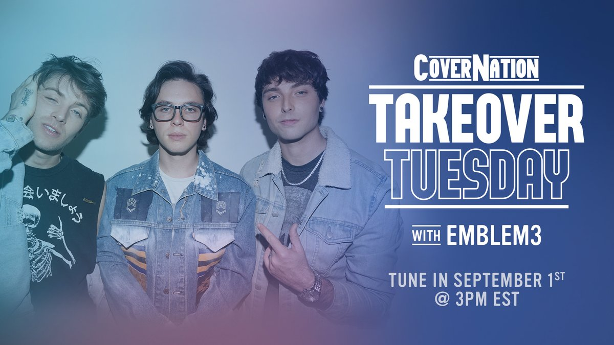 We'll be taking over and performing live on Cover Nation's YouTube channel tomorrow at 12pm PST / 3pm EST for their exclusive Takeover Tuesday series. Set your reminder to be notified when we go live:  https://t.co/islKMjBnHS  See you there!! https://t.co/9ITA63D5X4