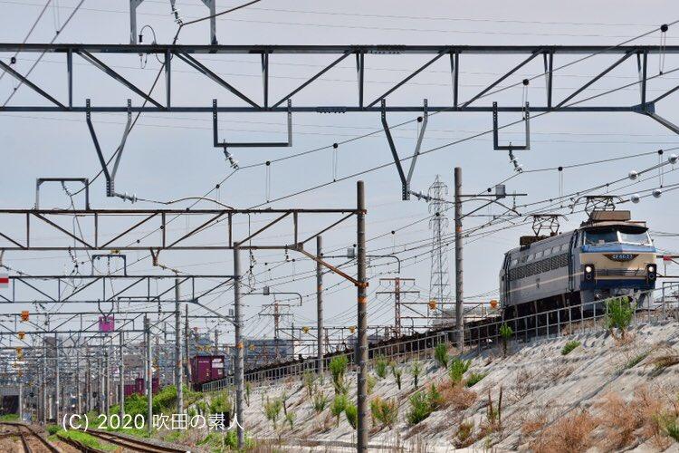 坂を駆け上がってくるEF66 27号機! 残念ながら積荷は5個のみ。 #EF6627 #81レ #JR貨物 #貨物列車 https://t.co/gNAhBKhOfB