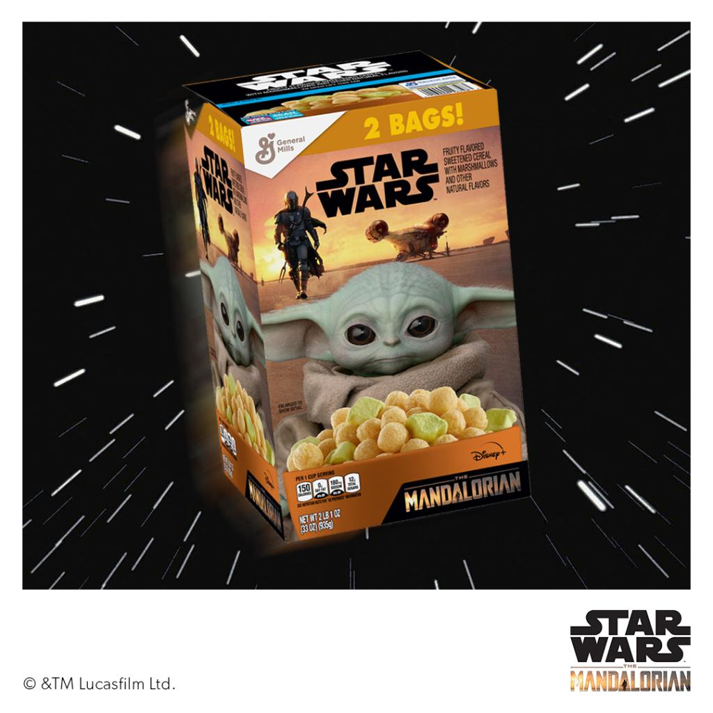 """Star Wars™ fans rejoice! The General Mills' cereal featuring """"The Mandalorian"""" characters is still hovering over shelves at Sam's Club. Pour yourself a bowl and get ready to stream the new season Oct. 30. #StarWars #TheMandalorian"""