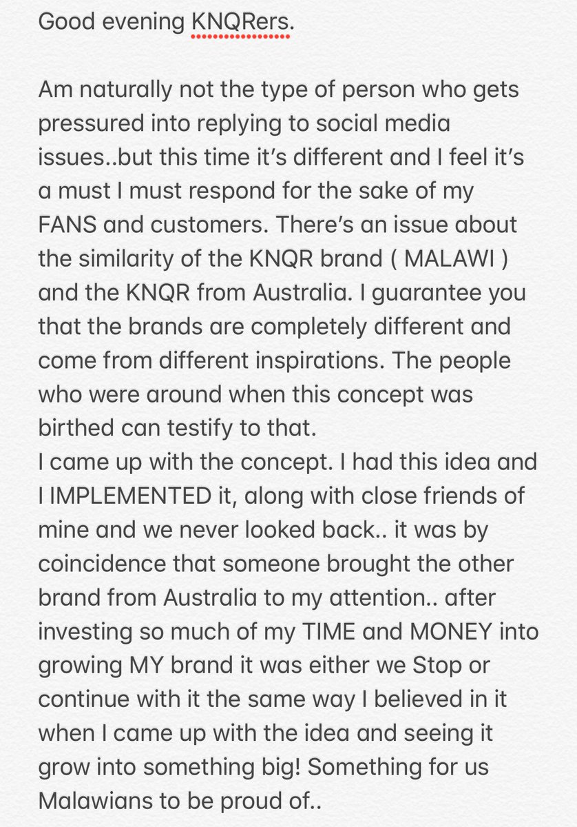 I have gotten a lot of messages about @KNQRonline and it's origin and this is what I have to say. I have built my career on family values, friendship, honesty, loyalty and respecting where am from and who I am and most importantly respect for other people. 💯💯💯