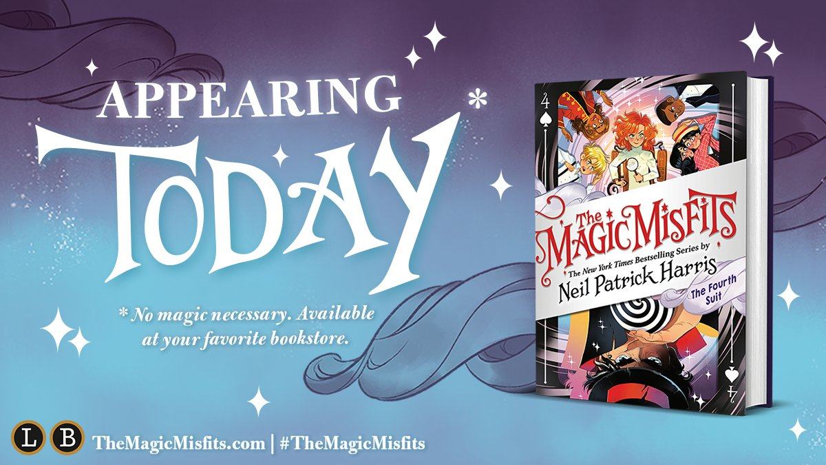 ✨POOF✨ Get your copy of @ActuallyNPH's THE MAGIC MISFITS: THE FOURTH SUIT today! https://t.co/iPP1iAfcHm