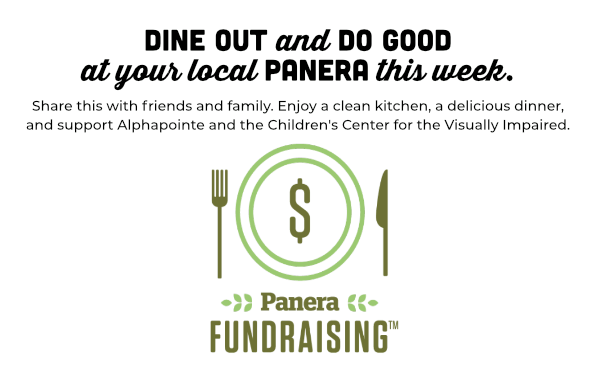 If you're searching for a way to give back - this evening we have an opportunity to fill your belly and your soul. The @Panera on Barry Road in KC Northland is donating proceeds to @Alphapointe  and @CCVI this evening from 4:00 - 8:00. 6286 NW Barry Road, Kansas City, MO 64154 https://t.co/NidQXeCF8r