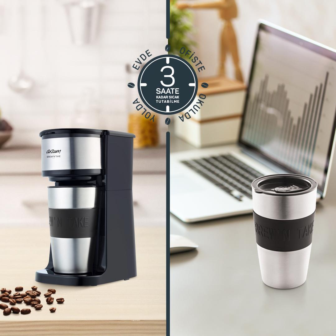 Evde hazırladığınız filtre kahveniz Arzum Brew'N Take'in paslanmaz çelik termos bardağı sayesinde istediğiniz her an her yerde yanınızda. ❤️ #Arzum #ArzumBrewNTake #BrewNTake https://t.co/7dnBHERBvM