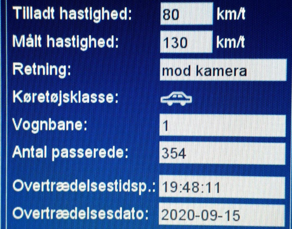 ATK har i aften målt på vores faste fokusstrækning Rømøvej ved Toftlund i Tønder kommune. Desværre måtte vi blitze 17 bilister som havde for travlt. 2 får desuden et klip i kørekortet for hastigheder op til 130km/t i 80zone. Vi kommer igen #atkdk #politidk https://t.co/gAlYJjRqEG