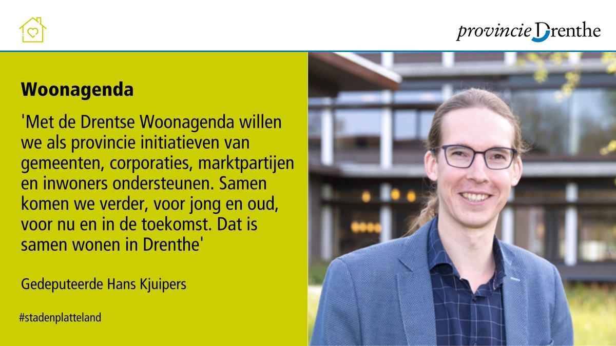 Gedeputeerde Staten presenteren de Drentse Woonagenda onder de noemer: 'Toekomstbestendig wonen in Drenthe'. Goed, betaalbaar en levensloopbestendig wonen zijn enkele thema's waar het college de komende jaren op wil inzetten. Lees hier meer ➡️ https://t.co/SENBA4ts90 https://t.co/JwCeB4kK2x