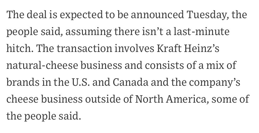 """I was today years old when I learned that there is a thing called """"natural cheese"""". Which suggests that there is cheese @KraftHeinzCo doesn't even pretend is natural. Via the @WSJ https://t.co/myta9TpPVE"""
