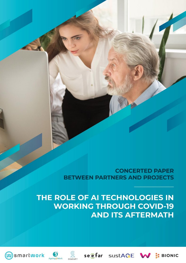 The working life and workers #health & #wellbeing have been disturbed due to #COVID19. #SmartWorkEU together with other projects has published a concerted paper on the role of #AI technologies in working through COVID-19 and its aftermath.  Check it out!➡️ https://t.co/ShYdc7nF25 https://t.co/dLTFqt69KK