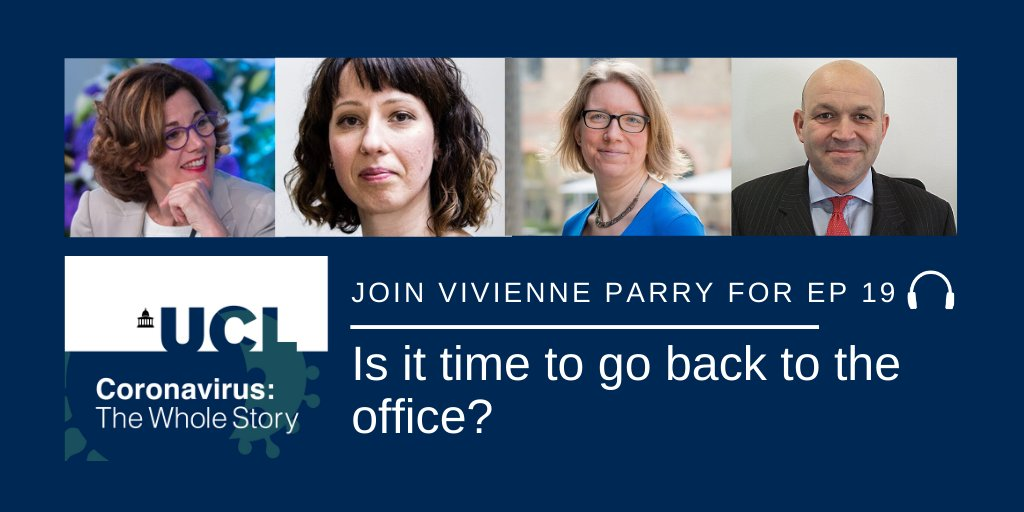 Episode 19 out now! As the UK encourages more people to go back to the office, we're thinking about what kind of workplace we might be returning to and how to get there safely. Join @vivienneparry & UCL experts to find out more in this week's episode: https://t.co/PbFxdrdrUE https://t.co/LRjV32nrMj