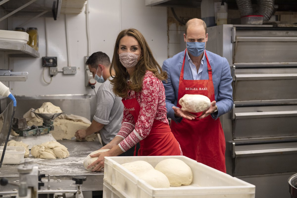At the famous Beigel Bake Brick Lane Bakery, The Duke and Duchess heard how the shop has helped the local community through food donation and delivery, and the challenges of reducing their opening hours during the pandemic.