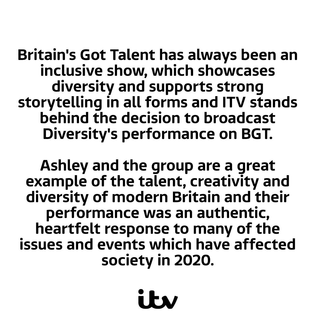 A statement about Britains Got Talent