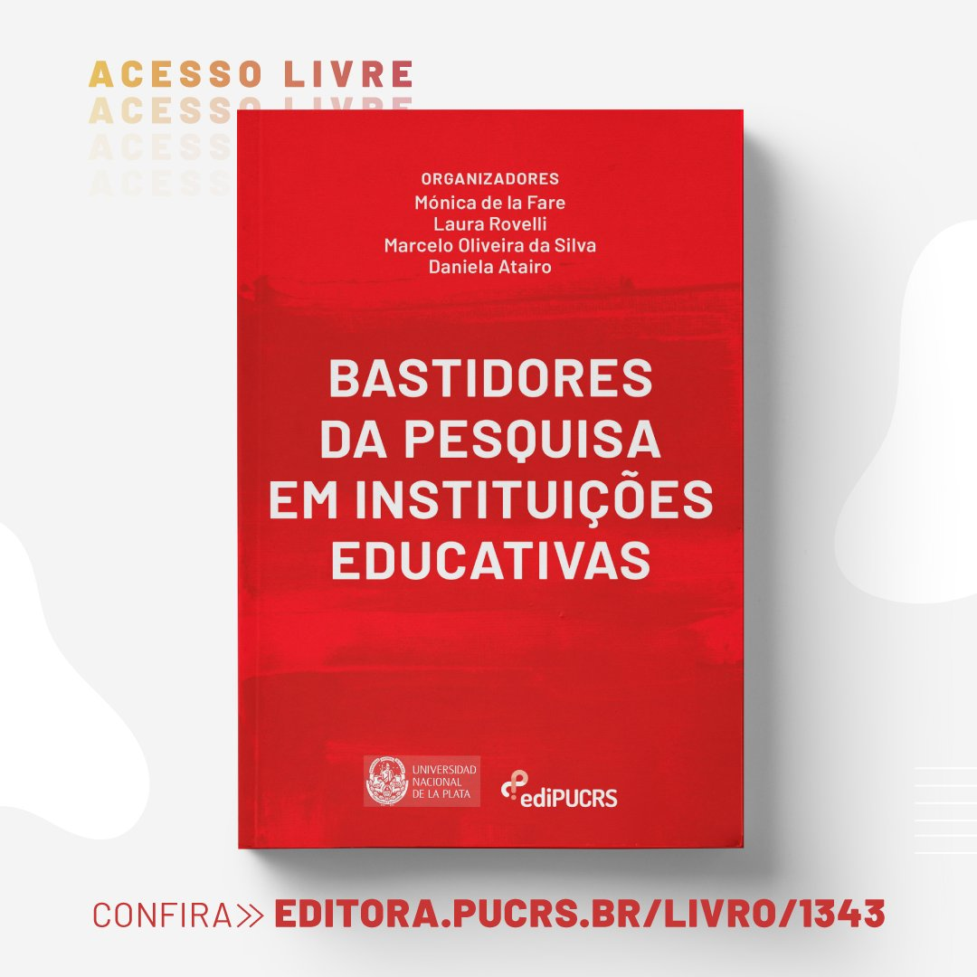 #AcessoLivre 📚 Baixe seu exemplar gratuitamente: https://t.co/pSmIvu1C2D  #educação #bastidores #livro #lançamento https://t.co/Wh1oUJYjDi