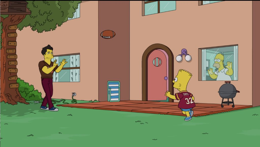 NFL 2020 is hitting different ______ Watch #TheSimpsons today at 1:30p|12:30c on Freeform.