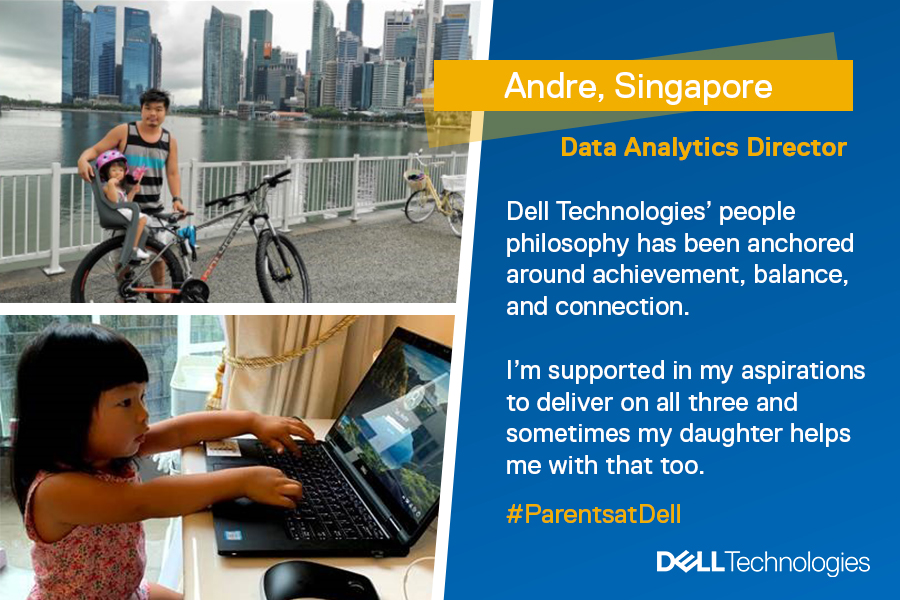 Our People Philosophy is about strengthening our commitment to being a place where team members can be their best and do their best work. #WorkingFromHome while juggling dad duties gives Andre time for himself and his family. https://t.co/gayAafIqfp #ParentsatDell https://t.co/ipgWPkplOl