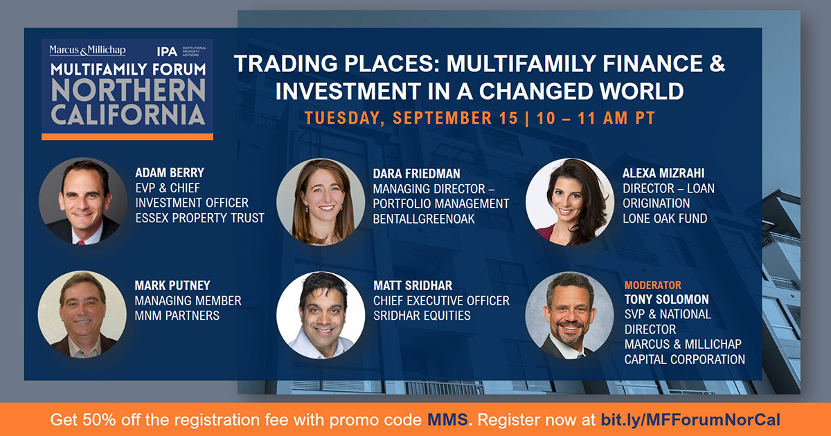 You can still register for the Northern California Multifamily Forum! Register now at https://t.co/JRoO1FZa3i . Join today's panel to learn more about the state of capital markets, both debt and equity, for multifamily deals across Northern California. #CRE #norcal #multifamily https://t.co/Z2oEb4M5kx