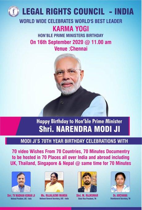 Happy to celebrate Hon\ble Shri Narendra Modi Ji\s Birthday..
