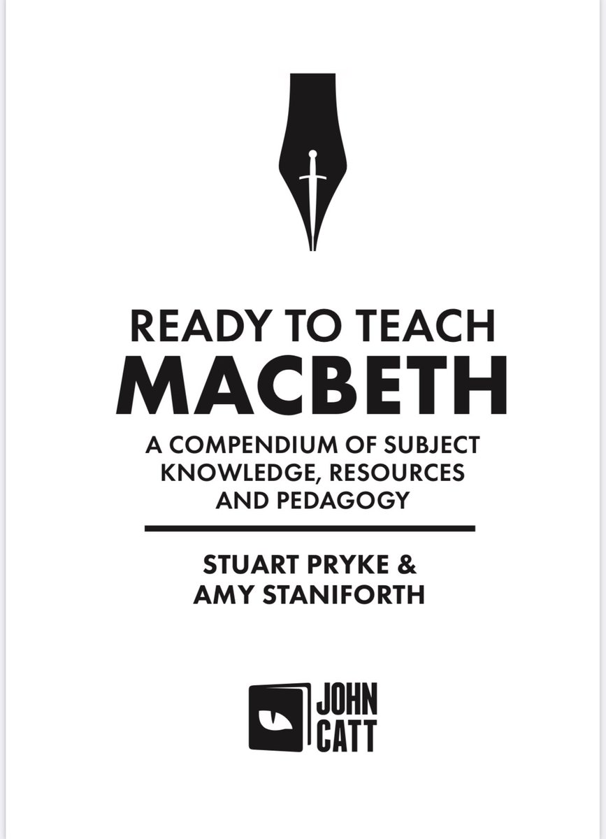 Something VERY exciting dropped into our inbox today... not long now! @teachals @JohnCattEd #Macbeth