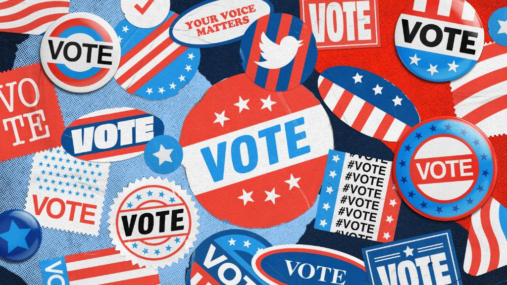 Just under 50 days to go to the 2020 US Election. How eligible voters can find accurate information on the voting process, the candidates, the issues, and election events all on Twitter 👇 (1/3)